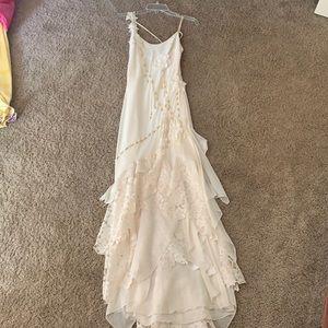 Long cream dress!